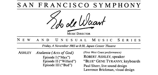 Cover San Francisco Symphony Notes