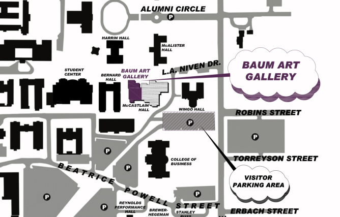 Baum Gallery Map